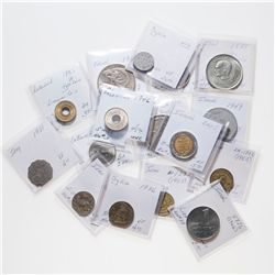 MIDDLE EAST. Lot of 16 (sixteen) base metal coins from various countries in the Middle East.