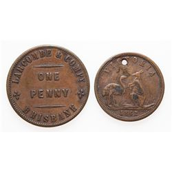AUSTRALIA. Lot of two (2) tokens.