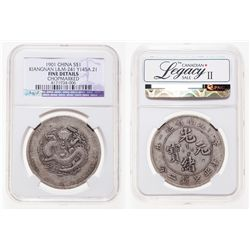 China - Kiangnan. S$1. 1901. Y145A.21. L&M-241. NGC F Details.