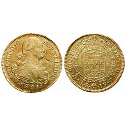 Colombia. 8 Escudos. 1801P JF. KM#62.2. EF.