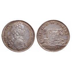 France. Silver Jeton. 1720'S. AU.