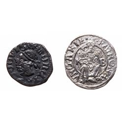 Hungary. Lot of two (2) silver medieval coins.