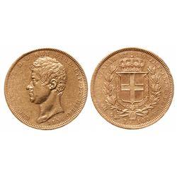 Italy - Sardinia. 100 Lira. 1834-P. Pic# 133.1. EF.