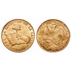 Mexico. 8 Escudos. 1839 DO RM. KM#383.3. AU.