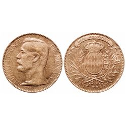 Monaco. 100 Francs. 1895A. KM#105. EF+.
