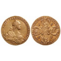 Russia. Gold 10 Roubles. 1769 ???. C#79a.