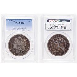 United States. 1 Dollar. 1879-CC. PCGS F-12.
