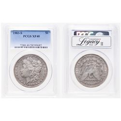 United States. 1 Dollar. 1903-S. PCGS EF-40.