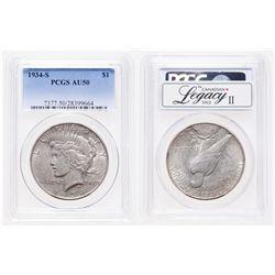 United States. 1 Dollar. 1834-S. PCGS AU-50.