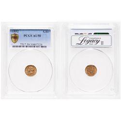 United States. $1 Gold. 1852. PCGS AU-50.