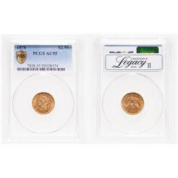 United States. $2.50 Gold. 1878. PCGS AU-55.