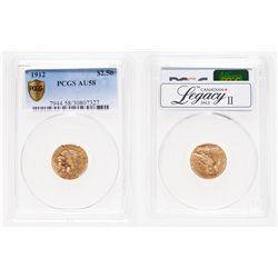 United States. $2.50 Gold. 1912. PCGS AU-58.