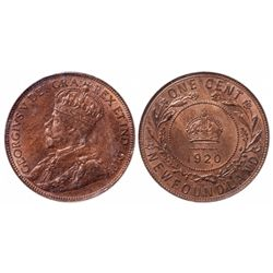 1920-C. ICCS Mint State-63. Red & Brown. 40% luster.