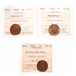 1941-C. Re-Engraved Date. ICCS VF-30. Ex. MOORE's Feb. 22-23, 2002. Lot #….