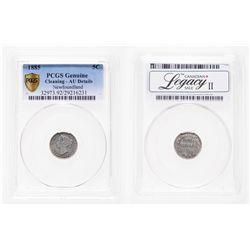 Newfoundland. 5 Cents. 1885. PCGS AU Details.