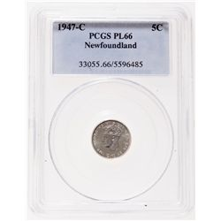 1947-C. PCGS graded Proof-Like-66. Brilliant, with a 'Cameo' bust. Ex. C….