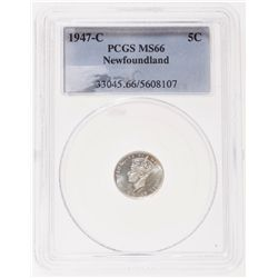 1947-C. PCGS graded Mint State-66. Brilliant. 'Cameo' contrast. Ex. Can….