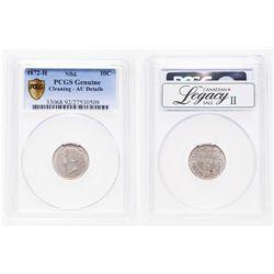 Newfoundland. 10 Cents. 1872H. PCGS genuine - AU Details.