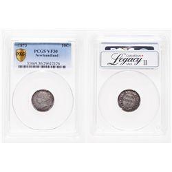 Newfoundland. 10 Cents. 1873. PCGS VF-30.
