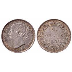 1872-H. Mint State-60. Medium heavy toning; Ex. Lot #627. Bowers & Meren….