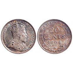 1904-H. ICCS AU-55. Medium heavy toning. Ex. C.N.A. auction 2000. Lot #4….
