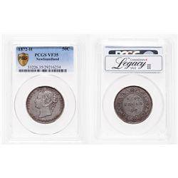 Newfoundland. 50 Cents. 1872H. PCGS VF-35.