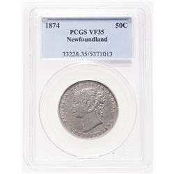 1874. PCGS graded Very Fine-35. Lightly toned.