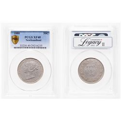 Newfoundland. 50 Cents. 1880. PCGS EF-40.