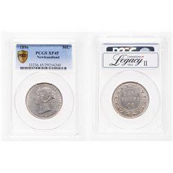 Newfoundland. 50 Cents. 1896. PCGS EF-45.