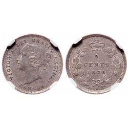 5 Cents. 1875-H. NGC AU-55.