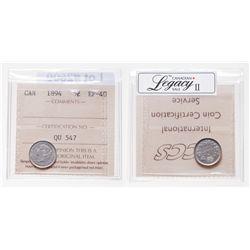 5 Cents. 1894. ICCS EF-40.