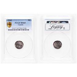 5 Cents. 1902. PCGS MS-65.