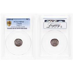 5 Cents. 1902-H. PCGS MS-64.