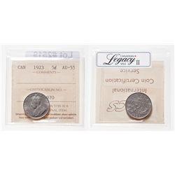 5 Cents. 1923. ICCS AU-55.