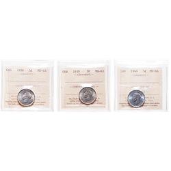 1938. ICCS Mint State-63; 1939. ICCS Mint State-63; 1944. ICCS Mint St….