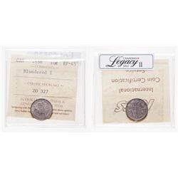 10 Cents. 1858. ICCS EF-45.