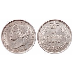 10 Cents. 1875-H. PCGS AU-50.