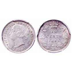 10 Cents. 1885. PCGS AU-58.