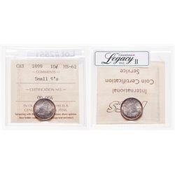 10 Cents. 1899. ICCS MS-62.