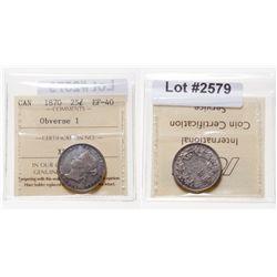 25 Cents. 1870. ICCS EF-40.