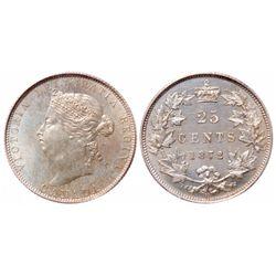 25 Cents. 1872-H. PCGS SP-64.