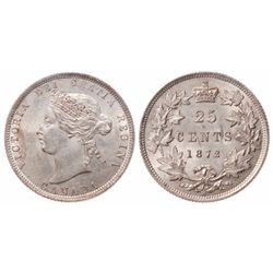 1872-H. Obverse port. #2. ICCS Mint State-62. Light golden toning over fu….
