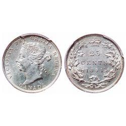 25 Cents. 1891. PCGS MS-62.