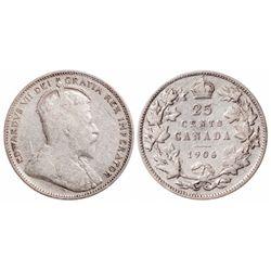 25 Cents. 1906. ICCS VG-8.