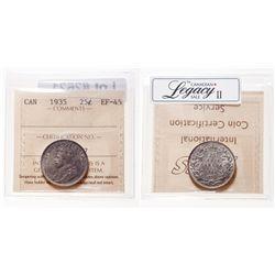 25 Cents. 1935. ICCS EF-45.