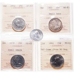 1954. ICG graded Mint State-65. Light to medium heavy toning over reflect….
