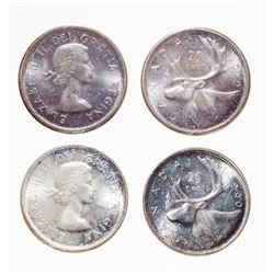 1959, 1960. Both ICCS Mint State-65. Both with light toning. Lot of two….