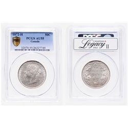 50 Cents. 1872-H. PCGS AU-55.