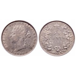 50 Cents. 1872-H. PCGS EF-45.
