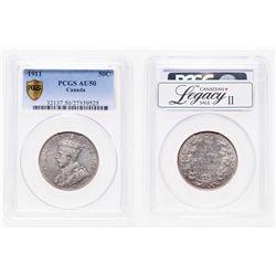 50 Cents. 1911. PCGS AU-50.